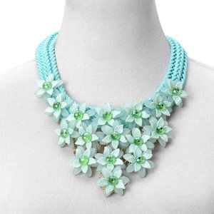 NEW Green Chroma Braided Statement Necklace